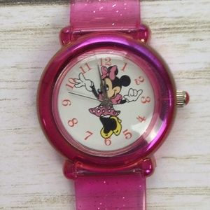 Disney Time Works Minnie Mouse Plastic Watch New